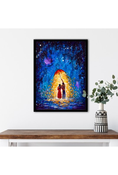 Ren House Rain Of Glow Çerçeveli Renkli Poster Tablo