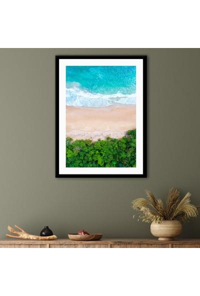 Ren House Jungle To The Beach Çerçeveli Modern Manzara Doğa Poster Tablo