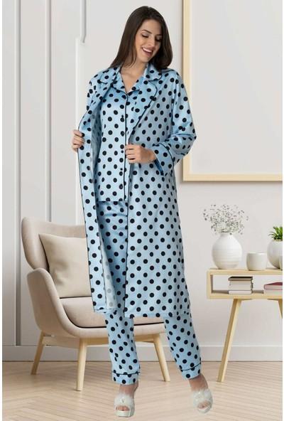 Makro Saten Lohusa Pijama Sabahlık Carpediem 1552