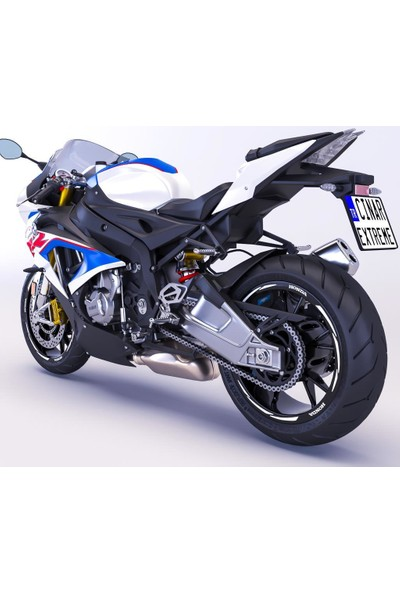 Çınar Extreme Honda Yazılı 3 Parçalı Reflektif Beyaz [Gri] Honda CB 250 Jant Şeridi Sticker