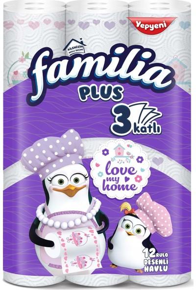 Familia Kağıt Havlu Plus Desenli 12'li Paket