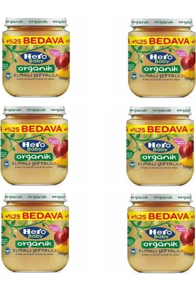 Hero Baby Organik Elmalı Şeftalili 190 gr x 6 Adet