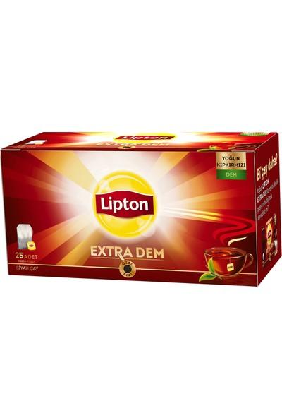 Lipton Extra Dem Bardak Poşet Çay 25 x 2 Gr. Onikili Set