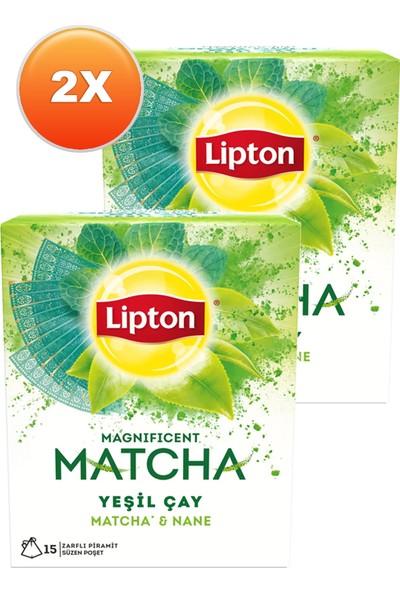 Lipton Magnificent Matcha Mint Bardak Poşet Çay 15 x 1,5 Gr. Ikili Set