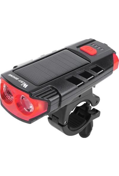West Biking Güneş Enerjisi Bisiklet Işık USB Şarj (Yurt Dışından)