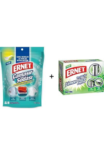 Ernet Çamaşır Sodası 2 kg + Limon Tuzu 100 gr