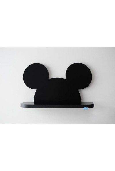 Dfn Wood Micky Mouse Şekilli Raf Kitaplık Duvar Rafı Çocuk Odası Raf
