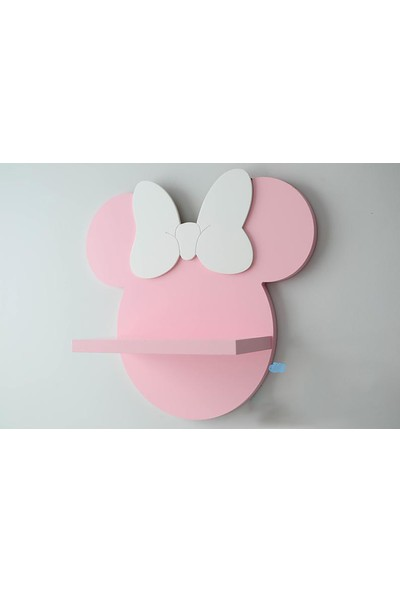 Dfn Wood Minnie Mouse Şekilli Raf Kitaplık Duvar Rafı Çocuk Odası Raf