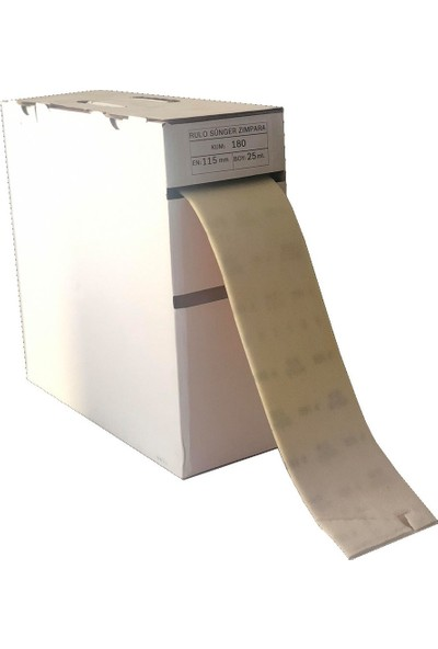 Egeli Rulo Sünger Zımpara 180 Kum 115 mm 1 Metre