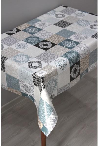 Dede Ev Tekstil Elyaf Silinebilir Pvc Muşamba Masa Örtüsü - Karo Desen