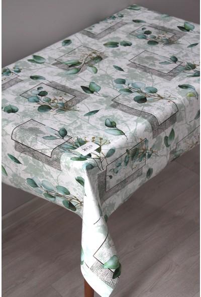 Dede Ev Tekstil Elyaf Silinebilir Pvc Muşamba Masa Örtüsü - Yeşil Dal Desen