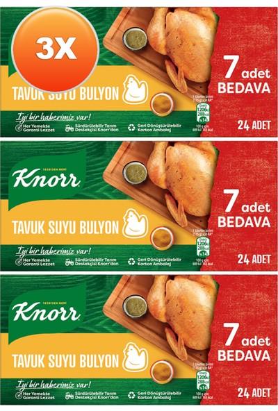 Knorr Tavuk Suyu Bulyon 24X10 gr Üçlü Set