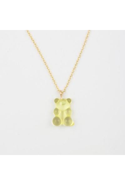Alp Collection Sarı Jelibon Sevimli Ayıcık Zincirli Kolye