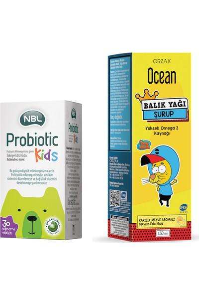 Nbl Probiotic Kids 30 Çiğneme Tableti Ocean Kral Şakir Balık Yağı Şurubu Karışık