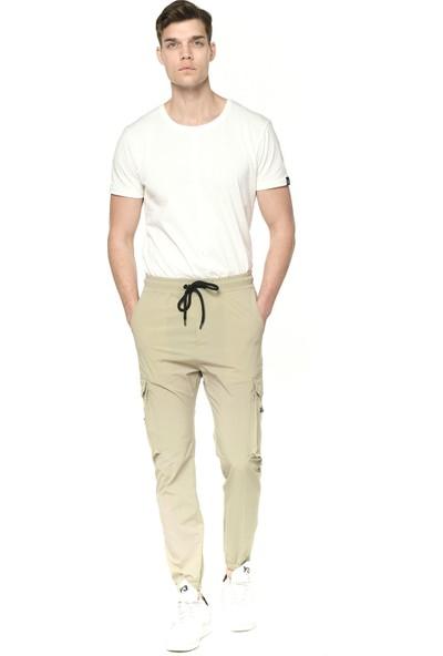 Paraşüt Kumaş Yandan Cepli Pacası Lastikli Erkek Pantolon