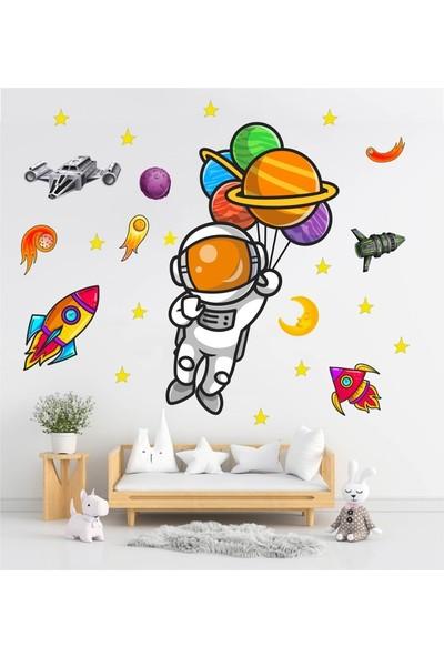 DEVO (Dergi ve Oyun) Baloncu Astronot Sticker Seti S1