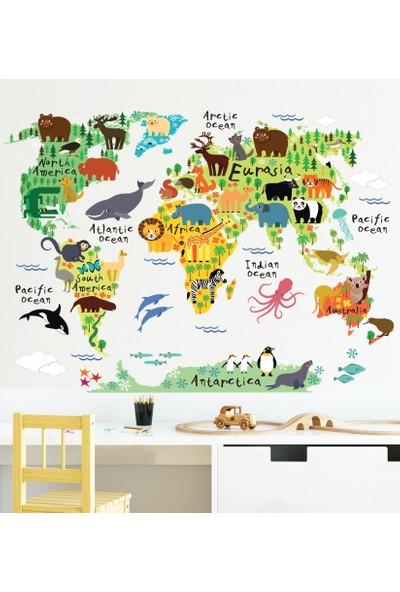 DEVO (Dergi ve Oyun) Animal World Map Sticker S1