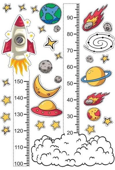 DEVO (Dergi ve Oyun) Uzay Yolu Boy Ölçer Sticker Seti