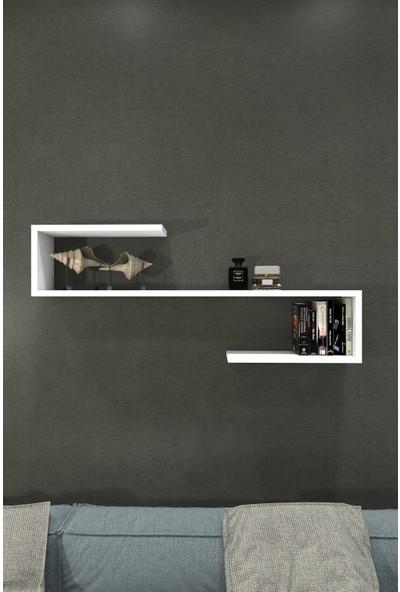 Atamer Melina Duvar Rafı Parlak Beyaz