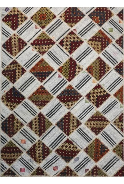 Madalyon Patchwork El Dokuma Antik Anadolu Kilim Mosaic