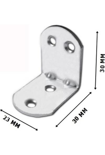 Badem10 10 Adet 30X30X23 mm Mobilya Dolap Köşe Bağlantı Sabitleme L Demir Gönye