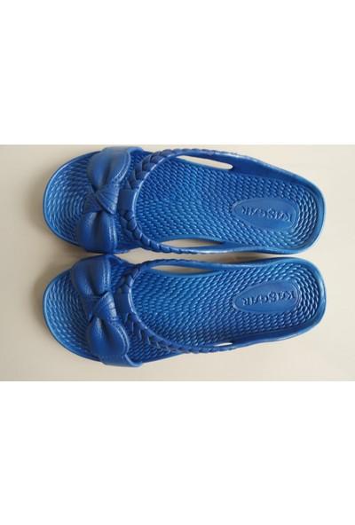 Evdiva x Kaşgar Bayan Terliği Koyu Mavi