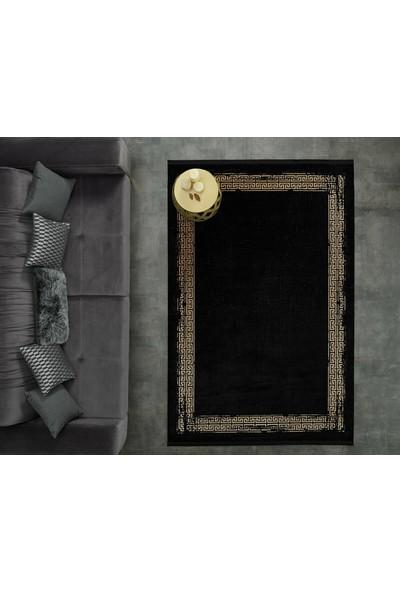 Gümüşsuyu Halı 11298 Black & Brown 120 x 120 cm Daire Halı