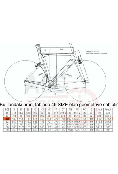 Salcano XRS001 Ucı 105 Set Karbon Yarış Bisikleti 49 Kadro