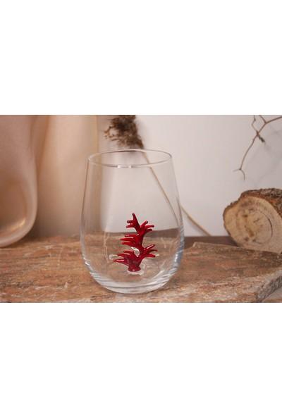 Adamodart Mercan Cam Figürlü 2'li Su Bardağı