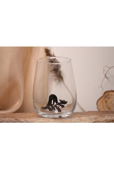 Adamodart Siyah Kedi Figürlü Tekli Su Bardağı