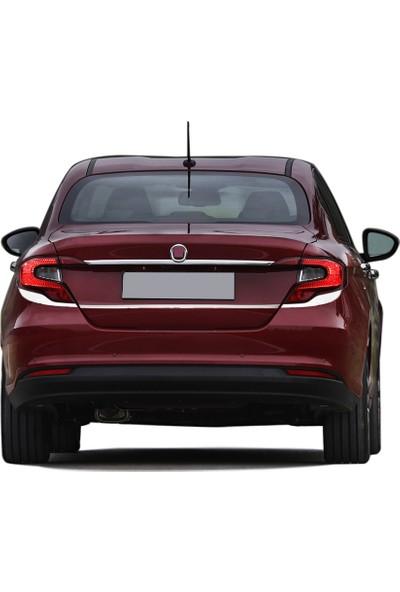 Blueoto Fiat Egea Sedan ( 2016-2019) Palakalık Üst Krom Bagaj Çıtası Paslanmaz Çelik