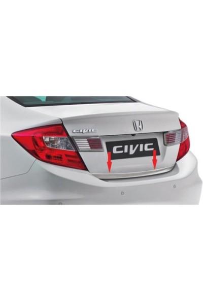 Blueoto Honda Civic ( 2012-2015) Krom Bagaj Alt Çıtası Paslanmaz Çelik