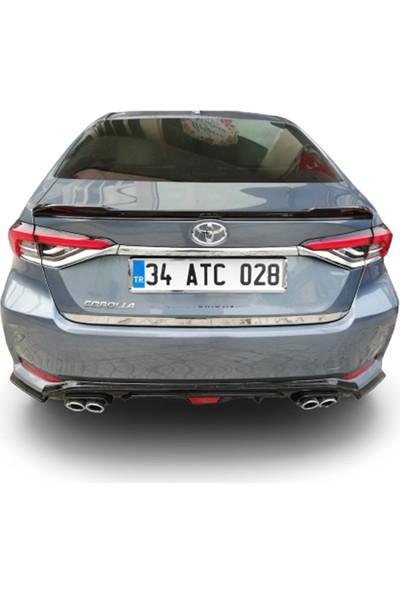 Blueoto Toyota Corolla (2019-2020 )Krom Bagaj Alt Çıtası Paslanmaz Çelik