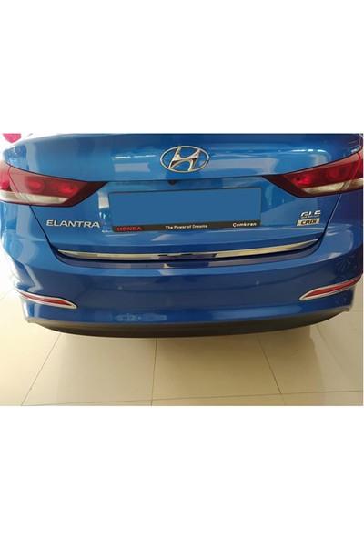 Blueoto Hyundai Elantra (2016-2018 )Krom Bagaj Alt Çıtası Paslanmaz Çelik