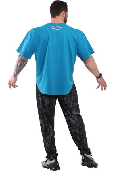 Big Sam Oversize Pamuklu Rahat Kesim T-Shirt Big Sam 3108