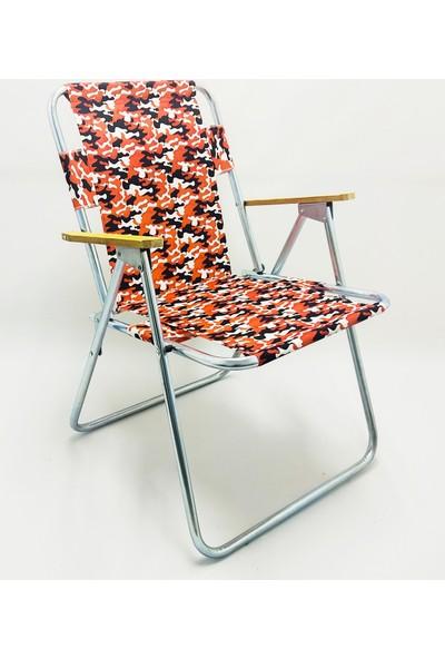 My Concept Katlanır Ahşap Kolçaklı Kamp Plaj Bahçe Sandalyesi 67