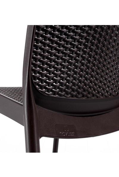 Novussi Sunny Rattan Koltuk Bahçe Balkon Sandalyesi Kahverengi