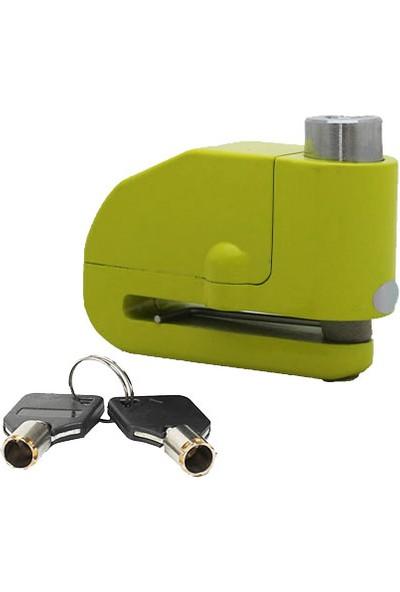 Vexo Sr6 Alarmlı Disk Kilit Neon Yeşil