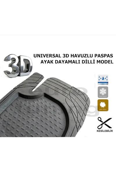 Şimşek 3D Havuzlu Oto Paspas Universal 5 Parça