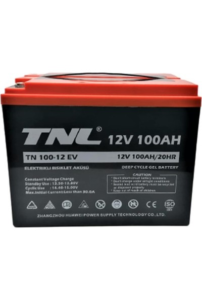 Tnl 12V 100Ah Deep Cycle Jel Akü