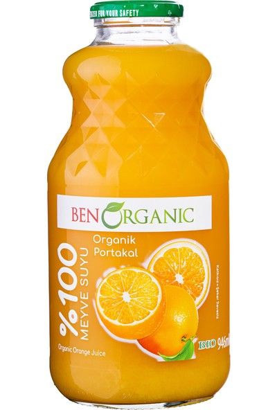 Benorganic Portakal Suyu 1 LT