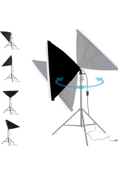 Deyatech Video ve Fotoğraf 2li Softbox Seti Sürekli Işık 50X70