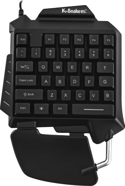 MF Product Strike 0614 Kablolu Tek El Mekanik Hisli Mini Oyun Klavyesi Siyah