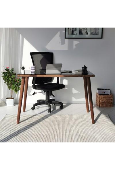 Neostill - Cozy Çalışma Masası Ahşap Temperli Cam