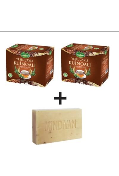 Mindivan 2 Li Set Yoğun Yeşil Çaylı Kinoa Çayı ve Doğal Sabun