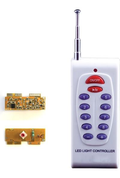 Del - Ithal 433 Mhz, 8 Kanal, 12 Tuş Rf Antenli El Kumandası + Pil + Alıcı (Reciever) Devre Kiti