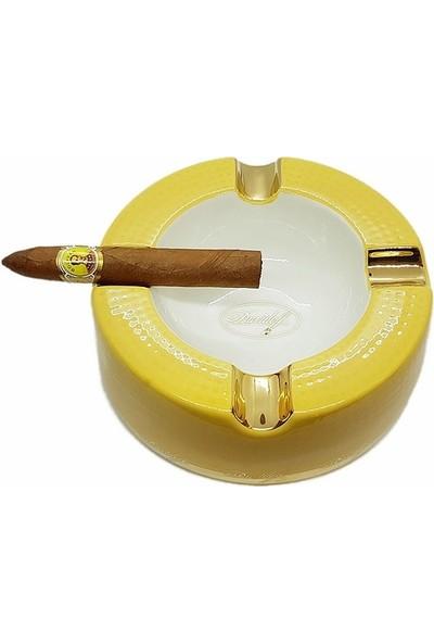 Davidoff 4lü Büyük Puro Küllüğü Beyaz/gold