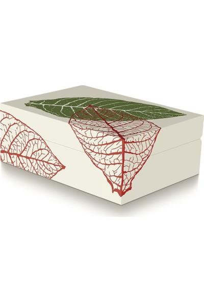 Zino Davidoff White Graphic Wood Humidor Beyaz