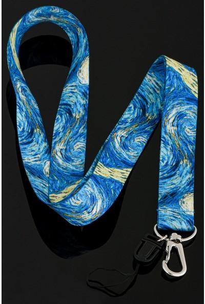 Apptakı Van Gogh Yıldızlı Gece Telefon Boyun Askı Ipi - ASK0011