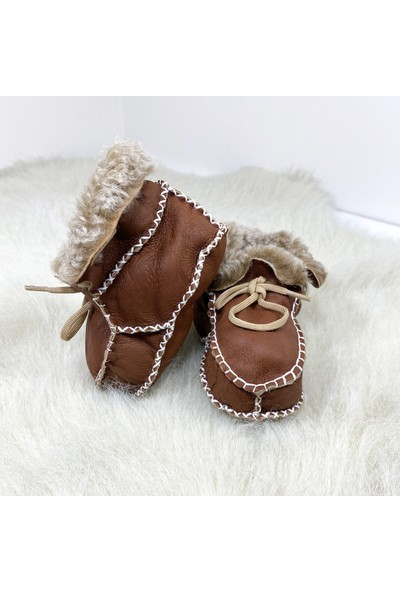 Pialetti Baby Kremit Bebek Patiği Bağcıklı